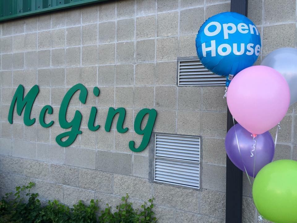 McGing Studio with open house balloons