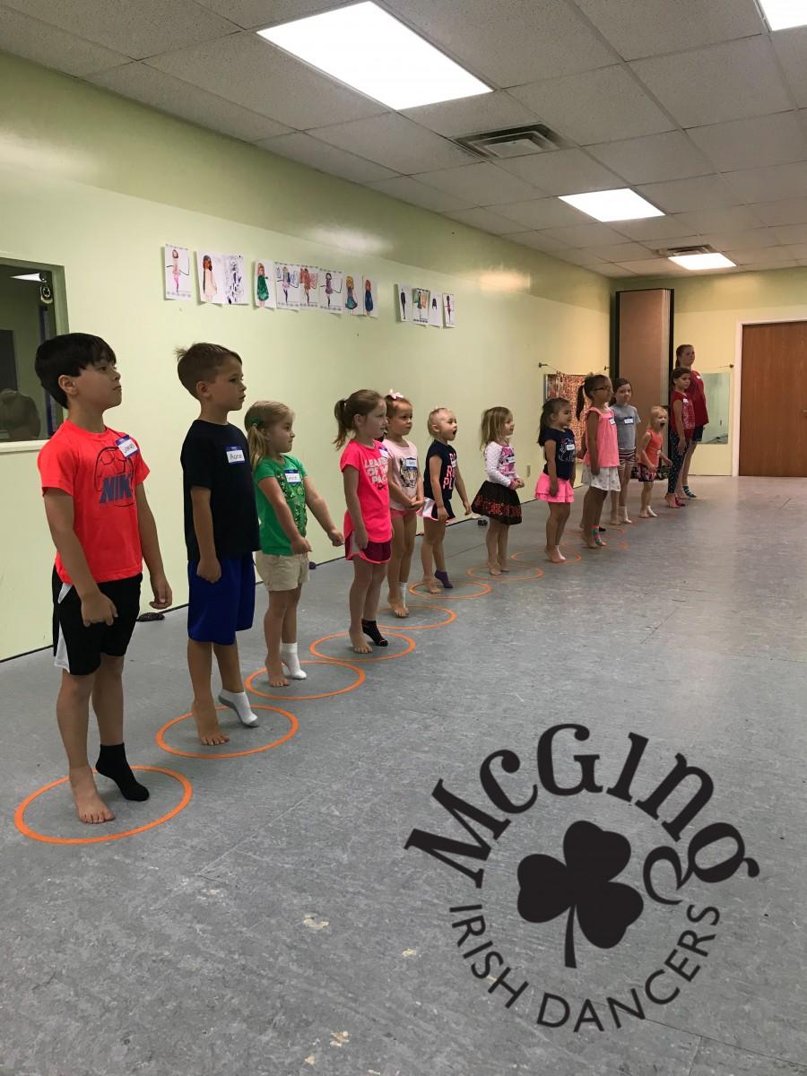 Children at a dance class